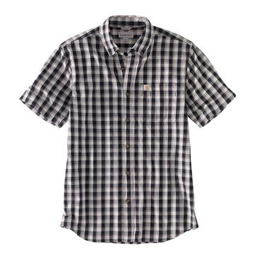Carhartt Short Sleeve Relaxed Fit Light Weight Button Front Plaid
