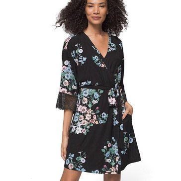 Soma Women's Cool Nights Short Robe with Lace