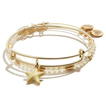 Alex and Ani Color Infusion Starfish Set of Two Bangles