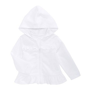 First Impressions Baby Girls' Eyelet Hoodie