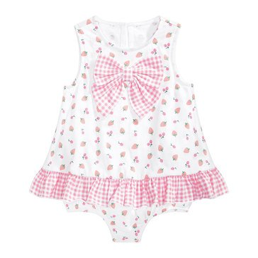 First Impressions Baby Girls' Cherry Bow Sunsuit