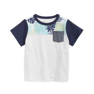 First Impressions Baby Boys' Tropical Colorblock Tee