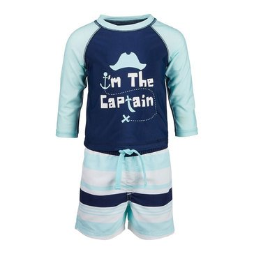 First Impressions Baby Boys' Captain Rashguard Set