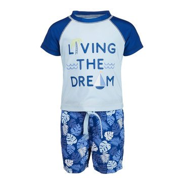 First Impressions Baby Boys' Tropical Rashguard Set
