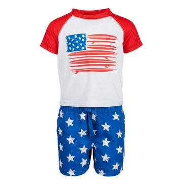First Impressions Baby Boys' Flag Rashguard Set