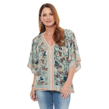 Democracy Women's V-Neck Woven Top