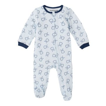 Calvin Klein Baby Boys' Logo Footed Coverall