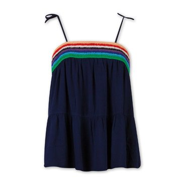 Speechless Girls' Rainbow Knit Hem Tank