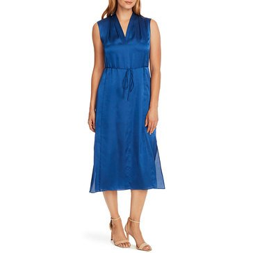 V. Camuto Mar S/L Charmeuse V-neck Maxi Dress