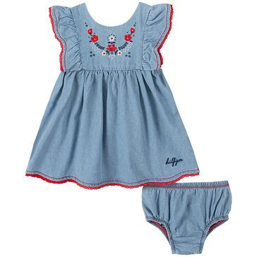 Tommy Hilfiger Baby Girls' Ruffle Cap Sleeve Floral Dress & Panty Set
