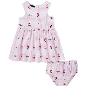 Tommy Hilfiger Baby Girls' Bow Front Cherries Dress & Panty Set
