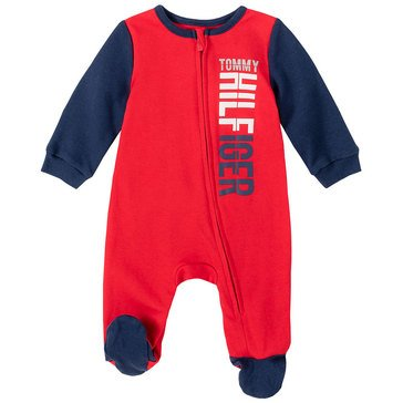 Tommy Hilfiger Baby Boys' Color Block Footed Coverall