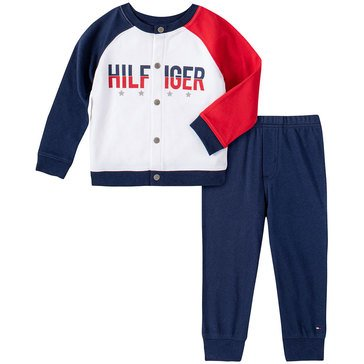 Tommy Hilfiger Baby Boys' Color Block Cardigan & Pants Set