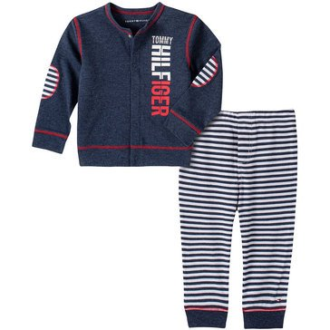Tommy Hilfiger Baby Boys' Striped Cardigan & Pants Set