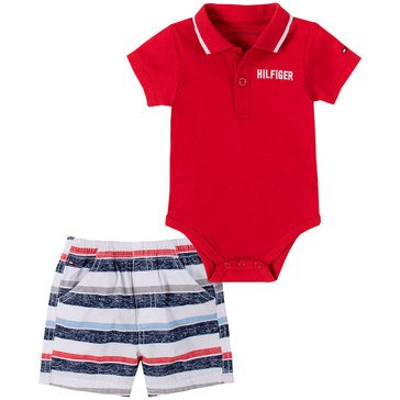 Tommy Hilfiger Baby Boys' Polo Bodysuit & Shorts Set