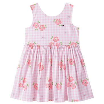 Tommy Hilfiger Baby Girls' Floral Garden Woven Gingham Dress