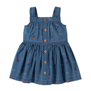 Tommy Hilfiger Baby Girls' Cherry Buttoned Up Dress
