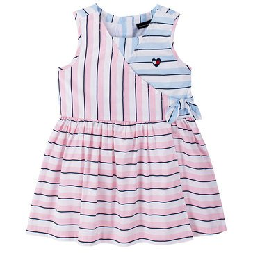 Tommy Hilfiger Baby Girls' Surplice Striped Dress