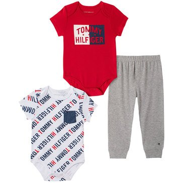 Tommy Hilfiger Baby Boys' Colorblock 3-Piece Bodysuit Set