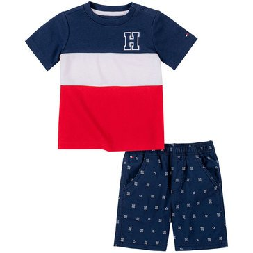 Tommy Hilfiger Baby Boys' Colorblock Shorts Set