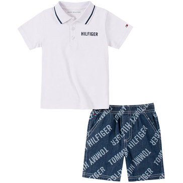 Tommy Hilfiger Baby Boys' Polo Tee & Shorts Set
