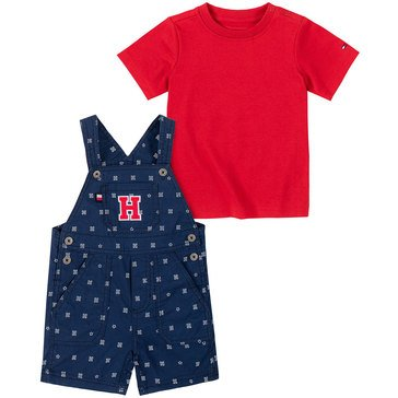 Tommy Hilfiger Baby Boys' Letter Print Canvas Shortall Set