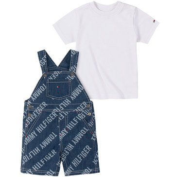 Tommy Hilfiger Baby Boys' Washed Denim Shortall Set