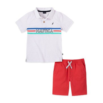 Nautica Baby Boys' Logo Polo & Shorts Set