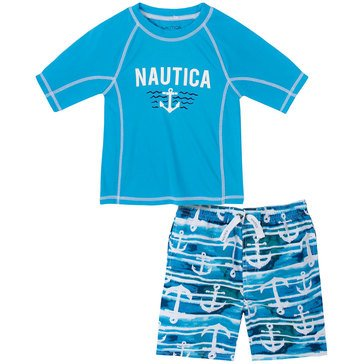 Nautica Baby Boys' Water Anchor Rash Guard Set