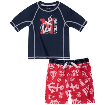 Nautica Baby Boys' Anchor Rash Guard Set