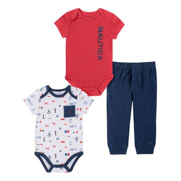 Nautica Baby Boys' Anchor 3-Piece Pant Set