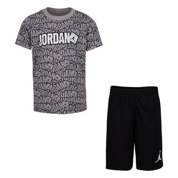 Jordan Boys Stickers Short Sleeve Tee Short Set