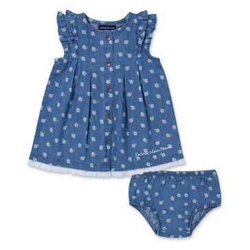 Calvin Klein Baby Girls' Dress & Panty Denim Set