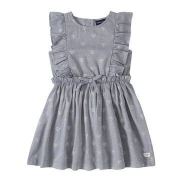 Calvin Klein Baby Girls' Heart Print & Denim Dress