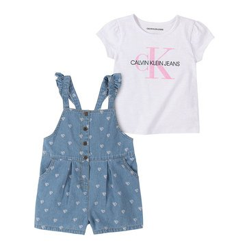 Calvin Klein Baby Girls' Top & Eyelet Bottom Dress Set