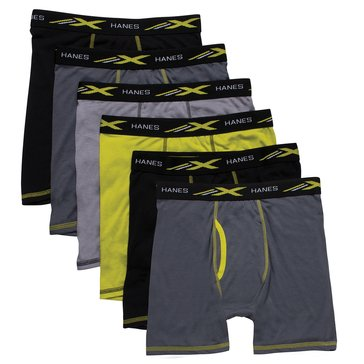 Bas Hanes Boys 6 Pack X Temp Boxer Brief Assorted