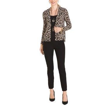Chicos Womens Animal Print Cardigan