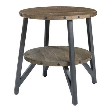 Signature Design by Ashley Haffenburg Round End Table