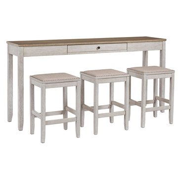 Signature Design by Ashley Skempton Rectangular Dining Room Counter Table, 4-Piece Set