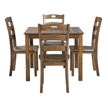 Signature Design by Ashley Hazelteen Square Dining Room Table Set 5-Piece Set