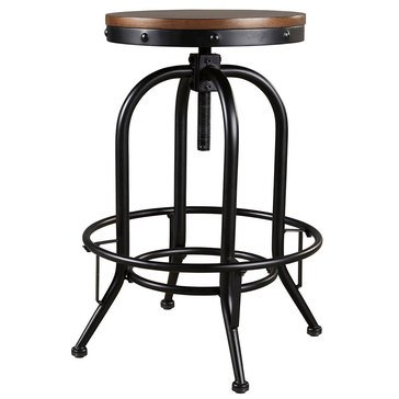 Signature Design by Ashley Valebeck Tall Swivel Barstool, Set of 2