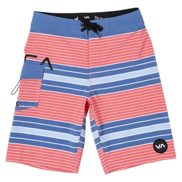 RVCA Big Boys' Uncivil Striped Swim Trunks