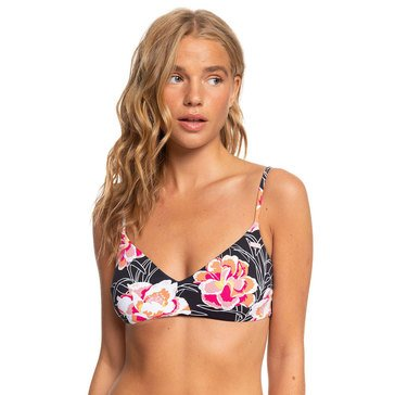 ROXY Women's Printed Beach Classics Athletic Triangle Bikini Top