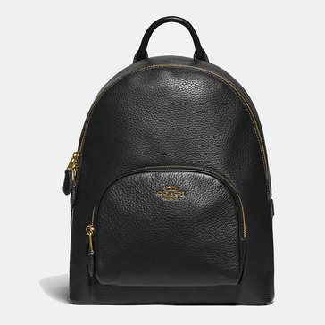 Coach Polished Pebble Leather Carrie Backpack