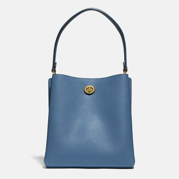 Coach Polished Pebble Leather Charlie Bucket 21