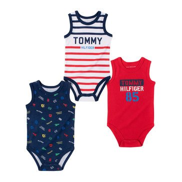 Tommy Hilfiger Baby Boys' 3 Pack Tank Bodysuit Set