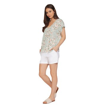 Dex Women's Scattered Floral Knit Top