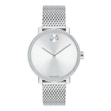 Movado Bold Women's Stainless Steel Mesh Bracelet Watch