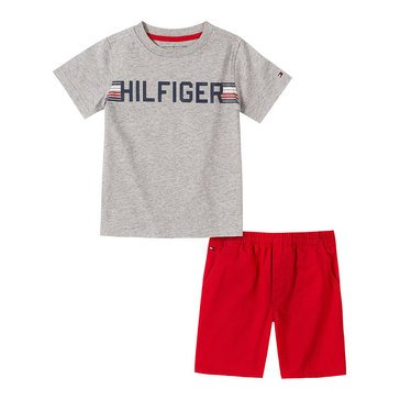 Tommy Hilfiger Baby Boys' Jersey Tee & Twill Shorts Set