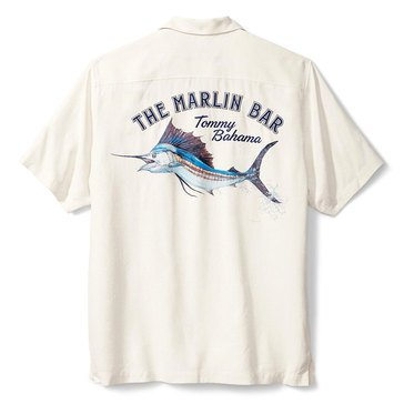 Tommy Bahama Men's Artist Series The Marlin Bar Camp Shirt